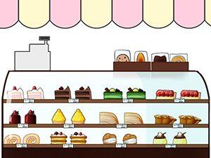ケーキのショーウインド