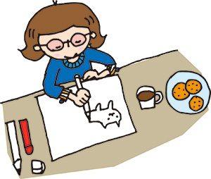 猫の絵を描く作家