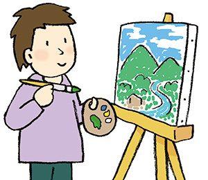 風景を描く画家