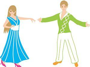 ダンスを踊る二人