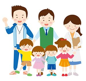 指導員と子供達
