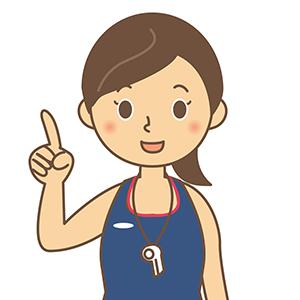 女性水泳コーチ