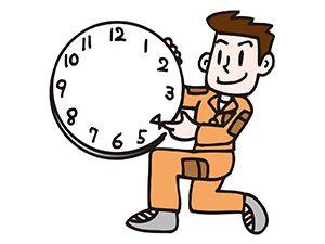 時計持つ職人