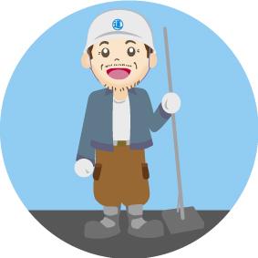 防水工事職人