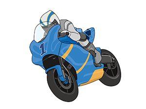 バイク乗る選手