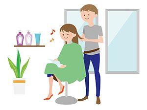 美容師とお客