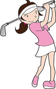 女性プロゴルファー
