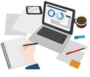 パソコンと書類