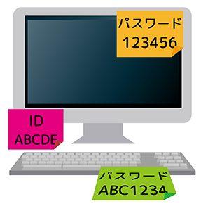 パソコンとパスワード