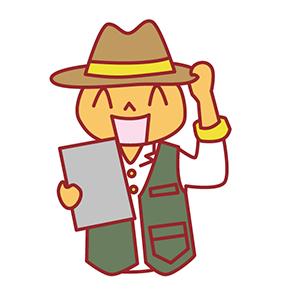笑顔の帽子かぶった男