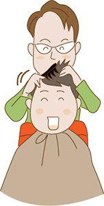 理容師とお客