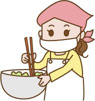 かき混ぜる調理師