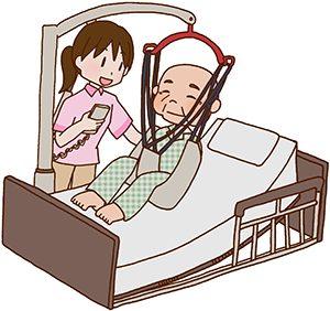 患者さんを世話