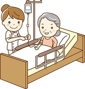 点滴する看護師