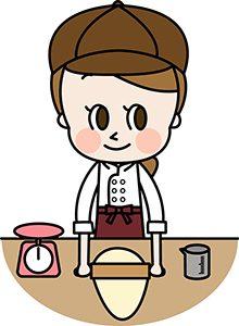 菓子を作る女性