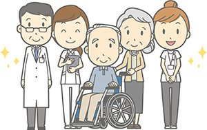退院する老夫婦