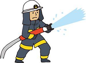 消化する消防官
