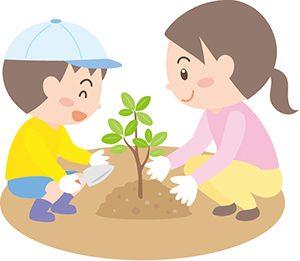 植林を教える